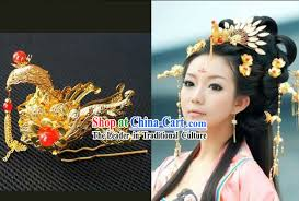 ancient hanfu style handmade hair accessories set