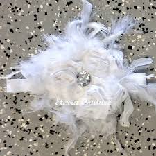 Shabby Chic Online Stores by Feather Flower Wedding Headband Vintage Shabby Chic Baptism