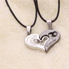 long love heart necklace images Wholesale hot design i love you heart shape pendant necklace 2 two jpg