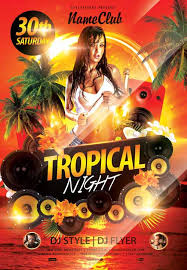 tropical night free flyer template http freepsdflyer com