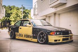 bmw e36 stanced ollie young e36 m3 wide body felony form bmw e36 project