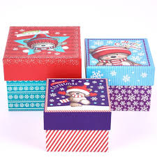 christmas boxes christmas gift boxes hugs set of 3 stacked boxes special