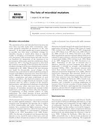 Cover Letter Microbiologist Microbiology Society Journals The Fate Of Microbial Mutators