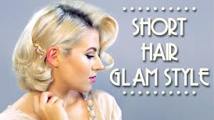 short hair glam style tutorial milabu youtube