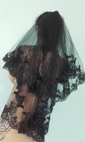 funeral veil black veils lace occult bats funeral wedding