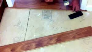 Laminate Flooring Tarkett How To Install Laminate Flooring Under The Door Jambs Youtube
