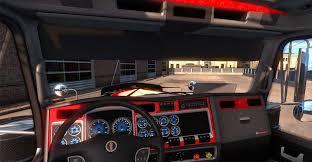 new kenworth w900 kenworth w900 dashboard blue american truck simulator mod ats mod