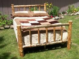bed frame rustic metal bed frames yermxus rustic metal bed