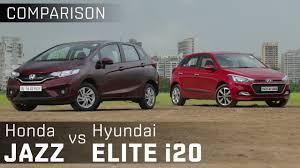 honda car comparison honda jazz vs hyundai i20 elite premium diesel hatchback