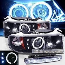 2001 dodge ram headlights amazon com 1994 2001 dodge ram 1500 ccfl halo projector