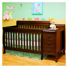 Crib And Bed Combo Athena 3 In 1 Convertible Crib And Changer Combo