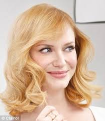 hair cor for 66 year old women christina hendricks shows off new blonde do at mad men screening