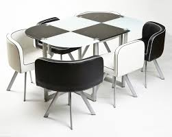 space saving dining room table and chairs excellent black chairs