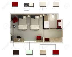 plan d une chambre d hotel 3d rendent d une chambre d hôtel ou chambre à coucher banque d