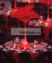 Ostrich Feather Centerpiece Feather Plume Palm Tree Wholesale Bulk Discount Cheap Red Ostrich