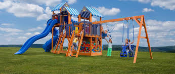 Pergola Swing Set Plans by Handcrafted Swing Sets U0026 Playsets Pine Creek Structures