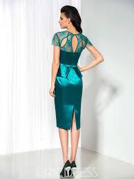 ericdress short sleeve lace knee length cocktail dress 11416808
