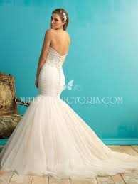 ruched tulle classic trumpet mermaid strapless wedding dress