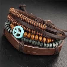 leather bracelet styles images Boho multi layer unisex leather bracelet 5 styles beach eye jpg
