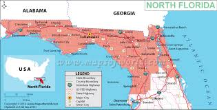 Map Of North Florida Counties Map Of Northern Florida Map Of North Florida