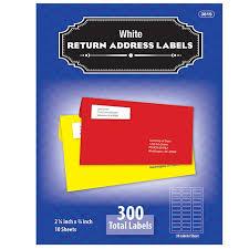 bazic 3 4 x 2 1 4 white return address labels 300 pack