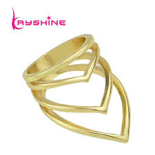 steunk engagement ring fashion summer design gold silver black color geometric steunk