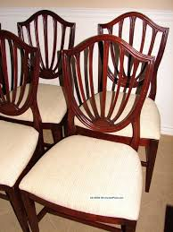 ethan allen vintage mahogany shield back dining room chairs six