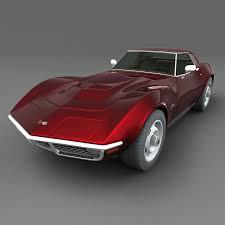 max corvette corvette stingray 1970 3d max