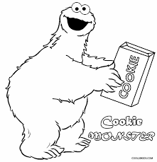 cookie monster clipart drawn pencil color cookie monster