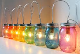 mason jar home decor ideas accessories charming image of colorful rainbow glass hanging