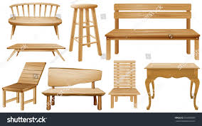 wooden chair designs different designs wooden chairs illustration stock vector