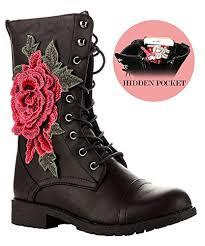 motorcycle booties amazon com rf women s ankle to mid calf lug sole stacked heel