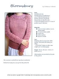 37 Inches In Cm Bloomsbury Pdf Knitting Handicrafts