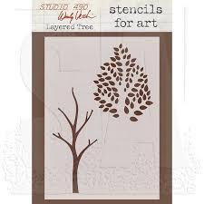 wendy vecchi stencils for layered tree wvsfa015