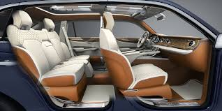 bentley interior back seat bentley suv experimental concept to evolve for production