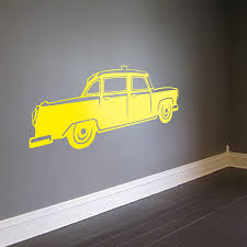 new york city taxi vinyl wall sticker by oakdene designs new york city taxi vinyl wall sticker