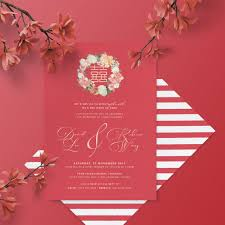 How To Design Wedding Invitation Cards Oriental Wreath Invitation Card The Paperpapers Wedding