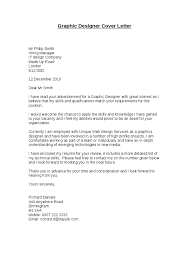 cover letter free sample graphic design cover letter template