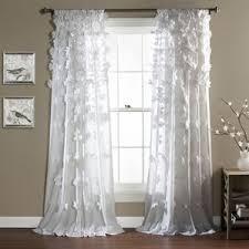 rod pocket door panel curtains wayfair
