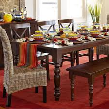 Torrance Mahogany Brown Turned Leg Dining Tables Pier  Imports - Pier one kitchen table