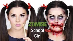 zombie pencil through face makeup tutorial