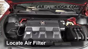 cadillac srx engine 2010 2016 cadillac srx engine air filter check 2011 cadillac srx