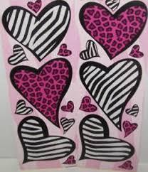 Animal Print Wall Decor Animal Print Hearts Wall Stickers 20 Decals Leopard Zebra Wall