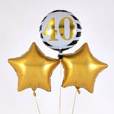 40th birthday balloons delivery 40th birthday gold balloon bouquet inflated free delivery