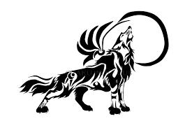 howling moon tribal wolf by otakuwolfcub on deviantart
