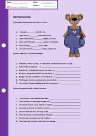 pronouns worksheet