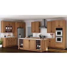 blind corner kitchen cabinet home depot hton assembled 36x34 5x24 in blind base corner kitchen cabinet in medium oak