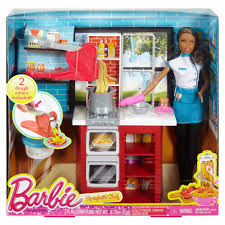 Barbie Kitchen Furniture Barbie Spaghetti Chef Doll And Playset African American Walmart Com