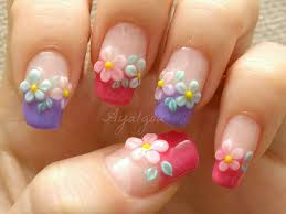 45 very cute flower nail art ideas collection for girls