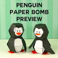 penguin paper bomb amazing pop up action jennifer maker